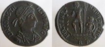 Ancient Coins - Constans. 337-350 AD. AE-2. Well struck, sharp details. RARE-listed as R-3.