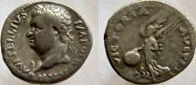 Ancient Coins - VITELLIUS. 69 AD. AR Denarius. Wonderful Spanish style.