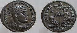 Ancient Coins - CONSTANTINE I (the GREAT). Æ Follis. VIRTVS EXERCIT. RARE; rated-R3.