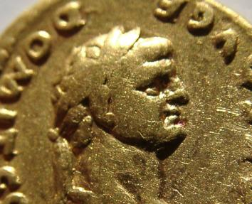 Ancient Coins - DOMITIAN. As Caesar, 69-81 AD. AV Aureus. PRINCEPS IVVENTVT.  PRICE DISCOUNTED !!