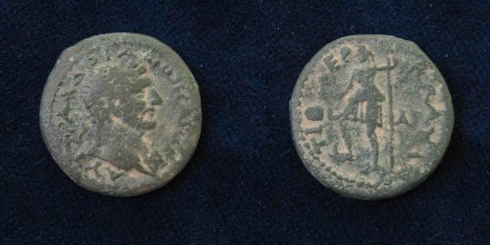 Ancient Coins - Judean, Tiberias of Hadrian 117-138 A.D.