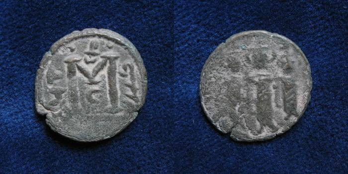 Ancient Coins - ISLAMIC, Umayyad Caliphate. Uncertain period (pre-reform),Tiberias mint.