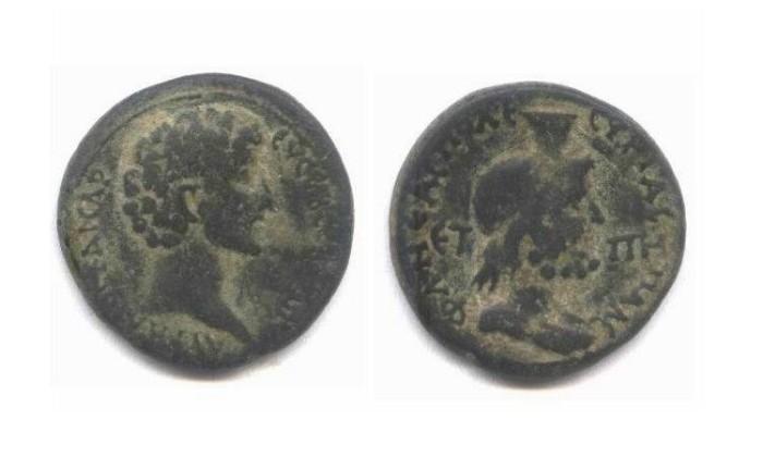 Ancient Coins - Neapolis of  Marcus Aurelius 161-180 A.D