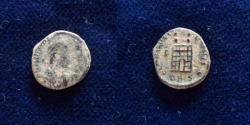 Ancient Coins - Valentinian II. AD 375-392. Æ (13mm, 1.4gr). Thessalonica mint,