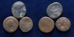 Ancient Coins - A lot of 3 Provincial coins with countermarks.