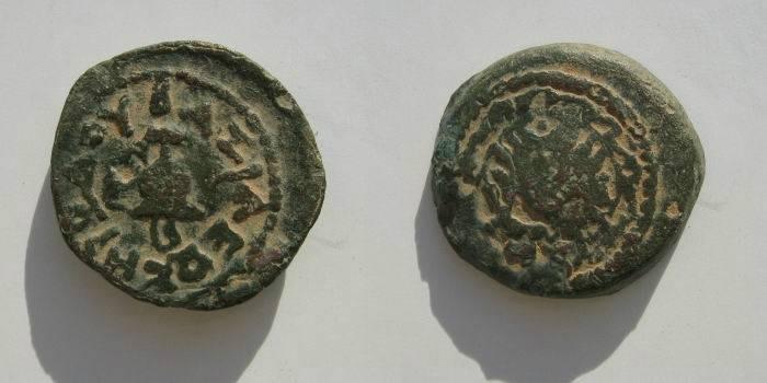 Ancient Coins - Judean, Herod the great AE 4 prutot.