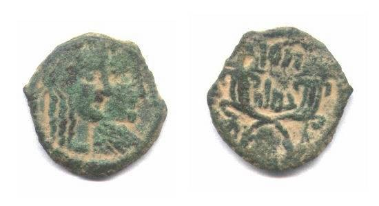 Ancient Coins - Nabatean,bronze coin AE17mm
