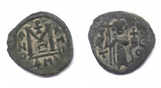 Ancient Coins - Arab byzantine type damascus.