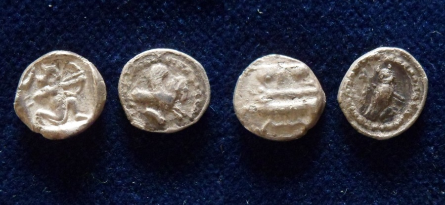 Ancient Coins - PHOENICIA, Tyre. Circa 357-355 BC. AR Obol.(group of 2 coins)