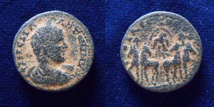 Ancient Coins - Elagabalus Aelia Capitolina. (218-222 AD). Bronze, 23 mm (10 gm).