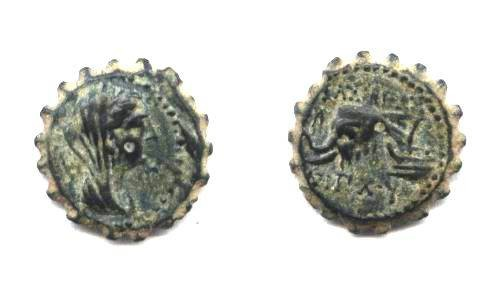 Ancient Coins - SELEUCID KINGS OF SYRIA, ANTIOCHUS IV.(Coin as found).