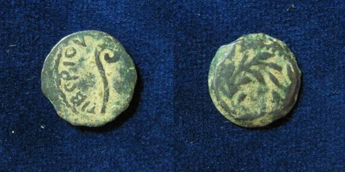 Ancient Coins - JUDAEA, Procurators. Pontius Pilate. 26-36 CE. Æ Prutah.