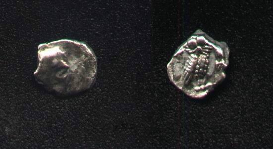 Ancient Coins - Judean, OBOL, YEHUD, AR8mm