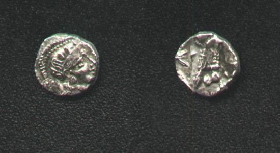 Ancient Coins - OBOL of Athena,AR8mm.