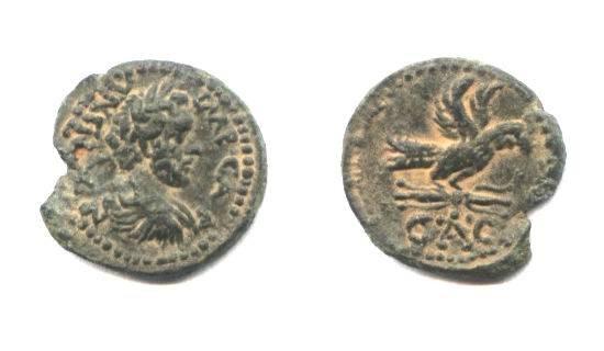 Ancient Coins - Aelia Capitolina. Antoninus Pius. Legionary Eagle.