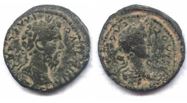 Ancient Coins - Judaea, Aelia Capitolina (Jerusalem). Commodus, M. Aurelius.