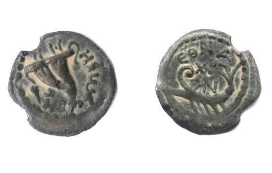 Ancient Coins - Judean,Herod Archelaus, Two Prutot, 4 BC-6 AD.