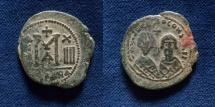 Ancient Coins - Revolt of the Heraclii. 608-610. Æ Follis. Alexandria mint.