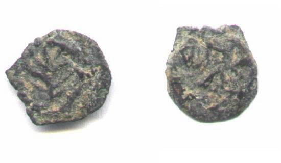 Ancient Coins - JUdean, Herod the great, AE11mm , lepton.
