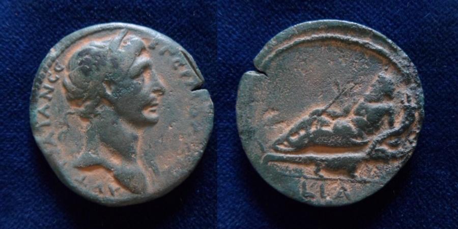Ancient Coins - EGYPT, Alexandria. Trajan. AD 98-117. Æ Drachm (35mm). Dated RY 11 (AD 107/8).