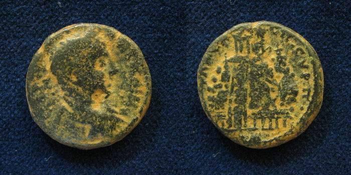 Ancient Coins - JUDAEA, Neapolis. Elagabalus. AD 218-222.