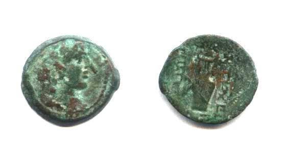 Ancient Coins - Phoenicia,harp, AE16mm.