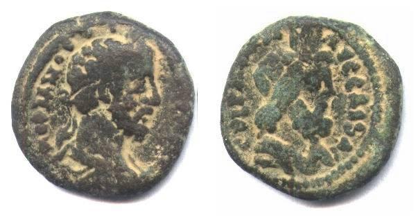 Ancient Coins - Judean,biblical coin city of Caesarea.