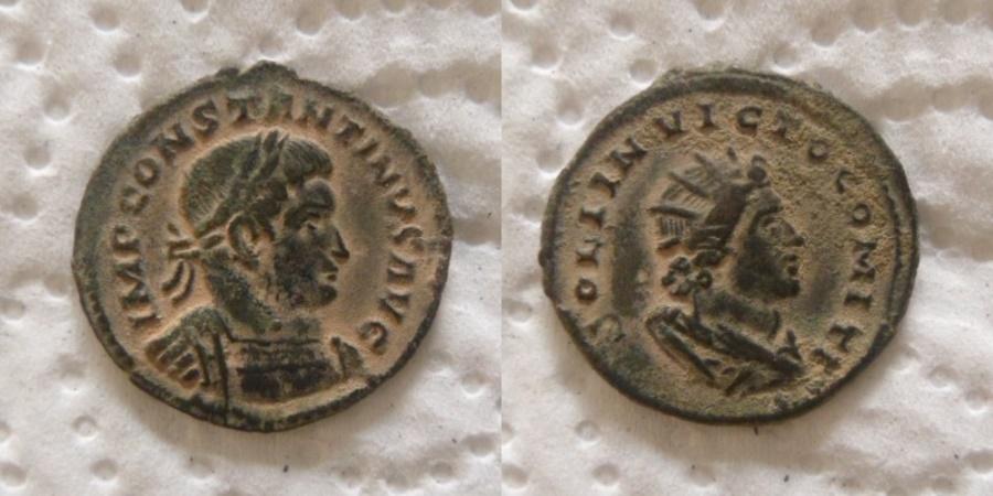 Ancient Coins - CONSTANTINE I. 307-337 AD. Æ Follis (4.75 gm). Struck 310-313 AD.