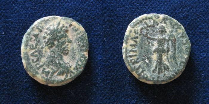 Ancient Coins - JUDAEA, Caesarea Maritima. Marcus Aurelius. AD 161-180.