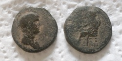 Ancient Coins - JUDAEA, Roman Administration. Nero, with Agrippina Junior. 54-68 CE.