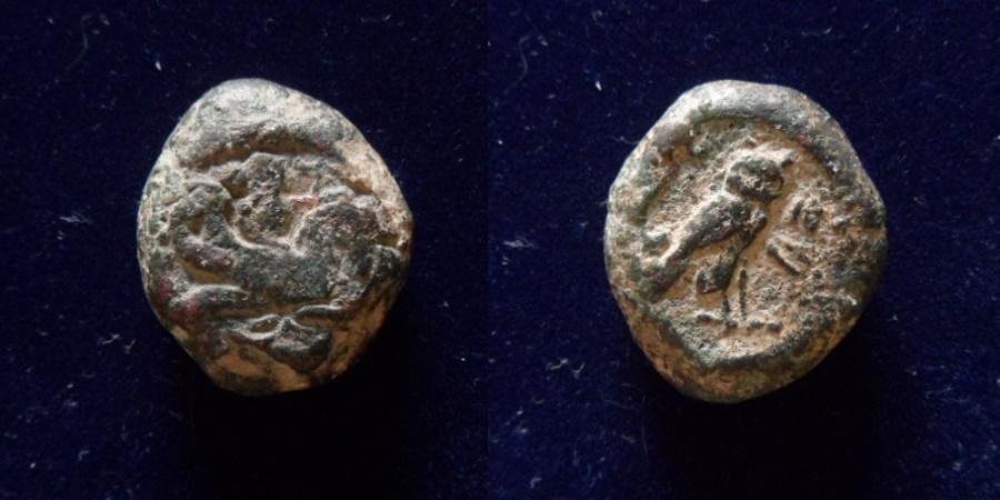 Ancient Coins - PHOENICIA, Tyre. 'Ozmilk (Azemilkos). Circa 349-311/0 BC. AR 21mm/13.3gr.
