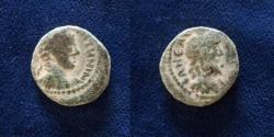 Ancient Coins - JUDAEA, Neapolis. Elagabalus. AD 218-222. Æ (17.5mm, 5.1gr).