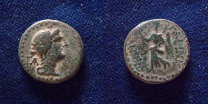 Ancient Coins - SYRIA, Decapolis. Nysa-Scythopolis. Aulus Gabinius. Legatus Syriae, 57-55 BCE.