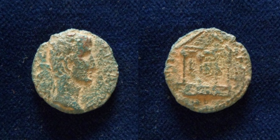Ancient Coins - JUDAEA, Herodians. Herod IV Philip, with Tiberius. 4 BCE-34 CE.