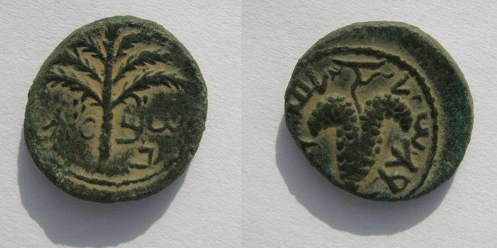 Ancient Coins - Judean,Bar Kochba, Small Bronze,132-135 AD.
