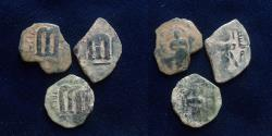 Ancient Coins - Lot of 3 coins.temp. 'Abd al-Malik ibn Marwan, AH 65-86 / AD 685-705. type Yubna.