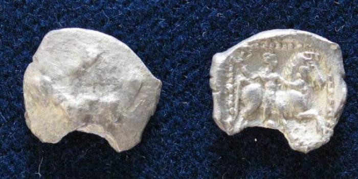 Ancient Coins - Philisto-Arabian, Gaza. Circa 375-333 BC. AR Obol