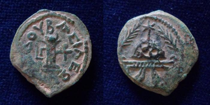 Ancient Coins - JUDAEA, Herodians. Herod I (the Great). 40-4 BCE. Æ 8 Prutot.