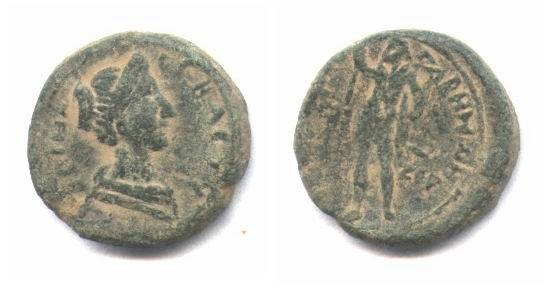 Ancient Coins - Judean, Gaba of Sabina, AE19mm