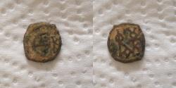 Ancient Coins - Justin II. 565-578. Æ Pentanummium (14mm, 1.3gr). Cyzicus mint.