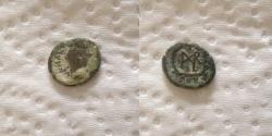 Ancient Coins - Marcian. AD 450-457. Æ Nummus (11mm, 1gr). Constantinople mint.