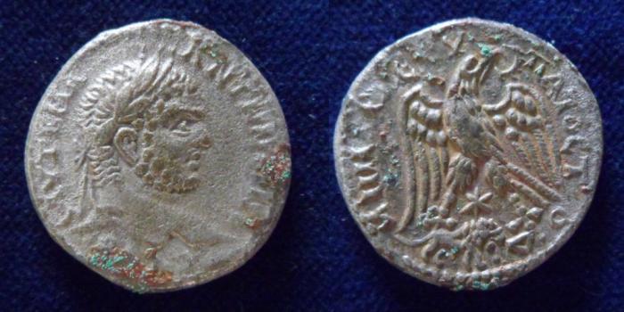 Ancient Coins - SYRIA, Cyrrhestica. Hierapolis. Caracalla. 198-217 AD. AR Tetradrachm.