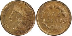 Us Coins - 1859 Indian 1C ANACS AU53