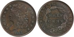 Us Coins - 1835 Half Cent ANACS MS63 Brown