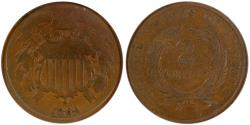 Us Coins - 1864 Two Cent ANACS G4, Small Motto
