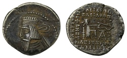 Ancient Coins - Parthia, Drachm, Artabanos III, 80-90 AD