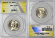 Us Coins - 1937-D 25C ANACS MS65