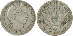 Us Coins - 1912-D Barber 50C ANACS VF20