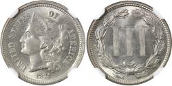 Us Coins - 1872 3CN NGC MS65