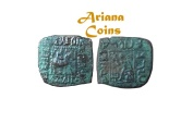 Ancient Coins - Indo-Skythians, Azilizes. Circa 57-35 BC. AE 1/4 Unit.